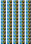 Monmouthshire Flag Stickers - 65 per sheet